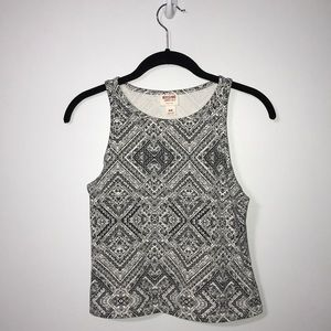 High-neck Fitted Cropped Tank